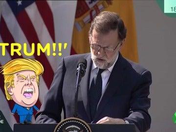 Rajoy no se despega de los lapsus ni en EEUU: llama 'Trun' a Trump y 'Madero' a Maduro