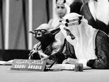La foto de Yoda sentado al lado del rey Faisal