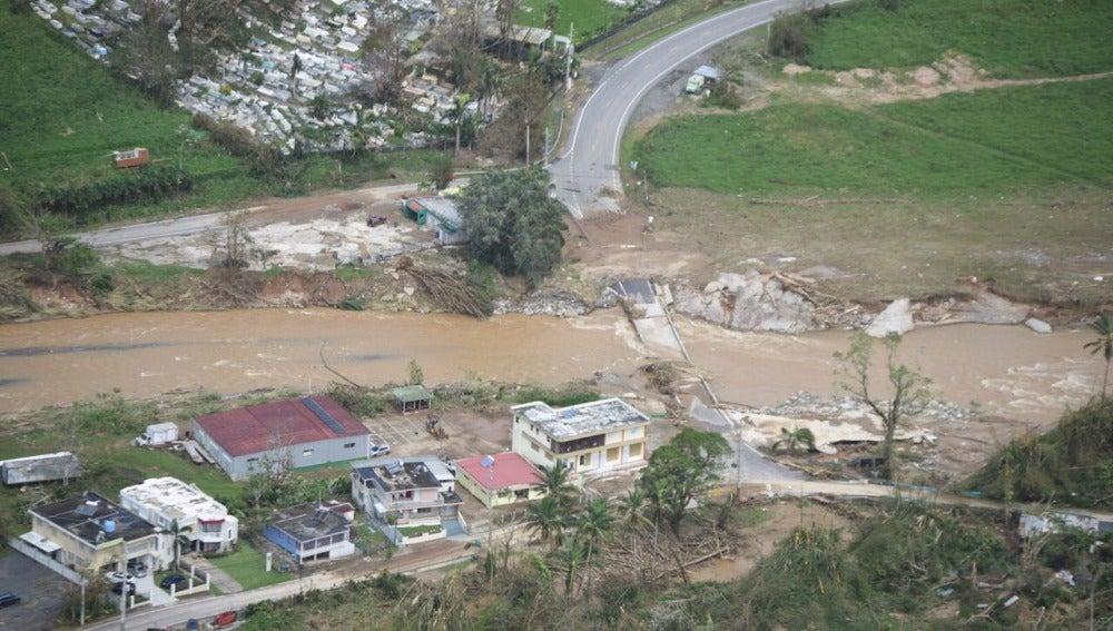 Las inundaciones provocadas por el desbordamiento de la presa de Guajataca en Puerto Rico