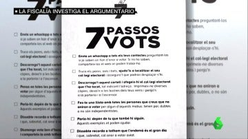 Polémica por los panfletos pro referéndum que llaman a hacer una lista con las personas que no voten el 1-O