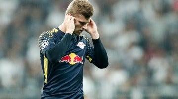Timo Werner en el partido contra el Besiktas