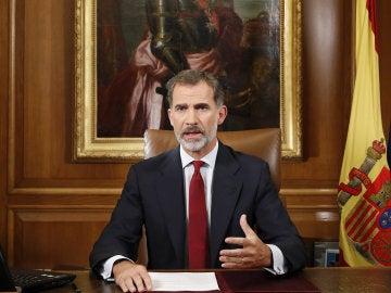 Felipe VI comparece en el Palacio de la Zarzuela