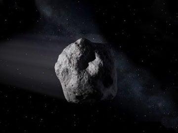 Recreación de una roca espacial