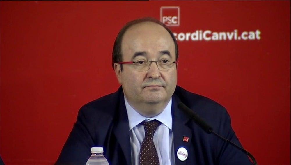 El primer secretario del PSC, Miquel Iceta