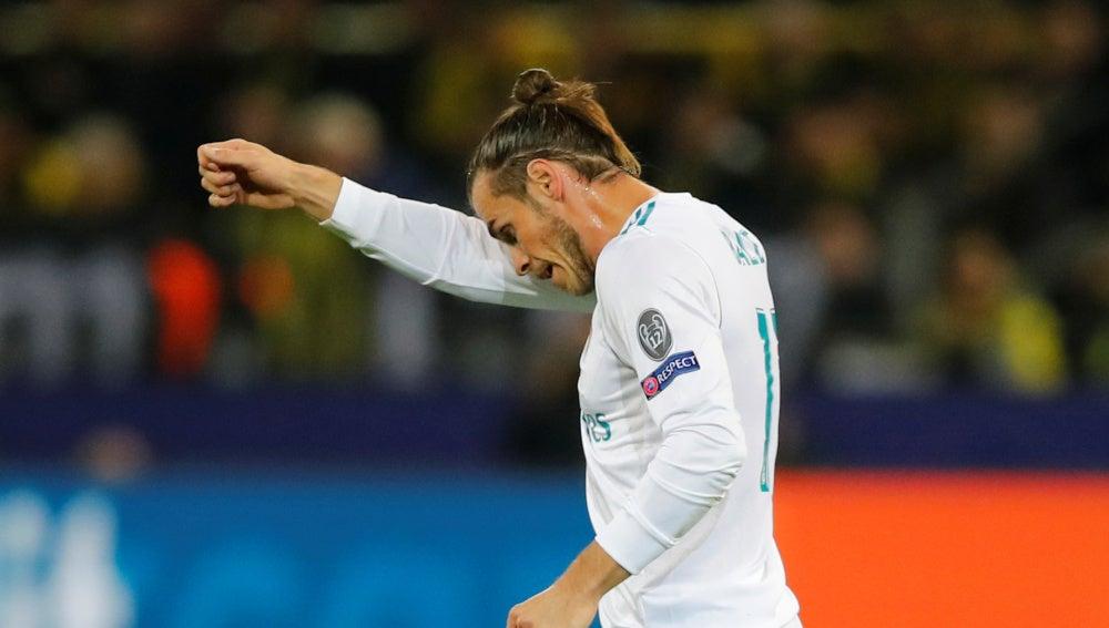 Bale, durante el partido contra el Borussia Dortmund