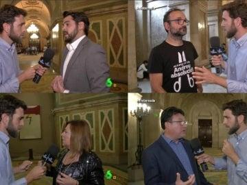 Gonzo con los políticos catalanes