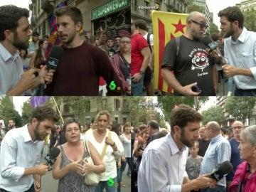 Gonzo entrevista a los manifestantes de la huelga general en Cataluña