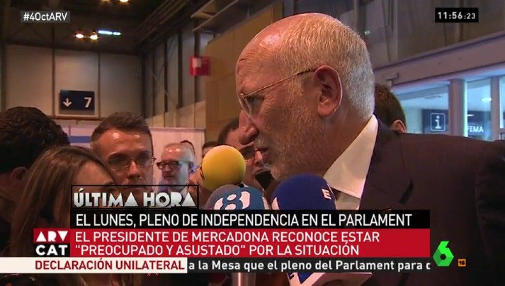 Juan Roig habla con los medios