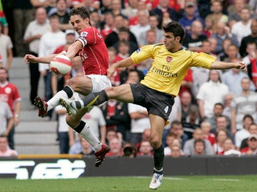 Cesc Fábregas, durante un United - Arsenal