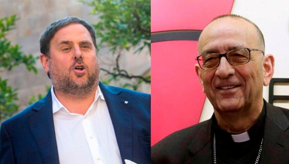 Oriol Junqueras y Juan José Omella