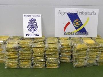 Incautación de droga en el puerto de Algeciras