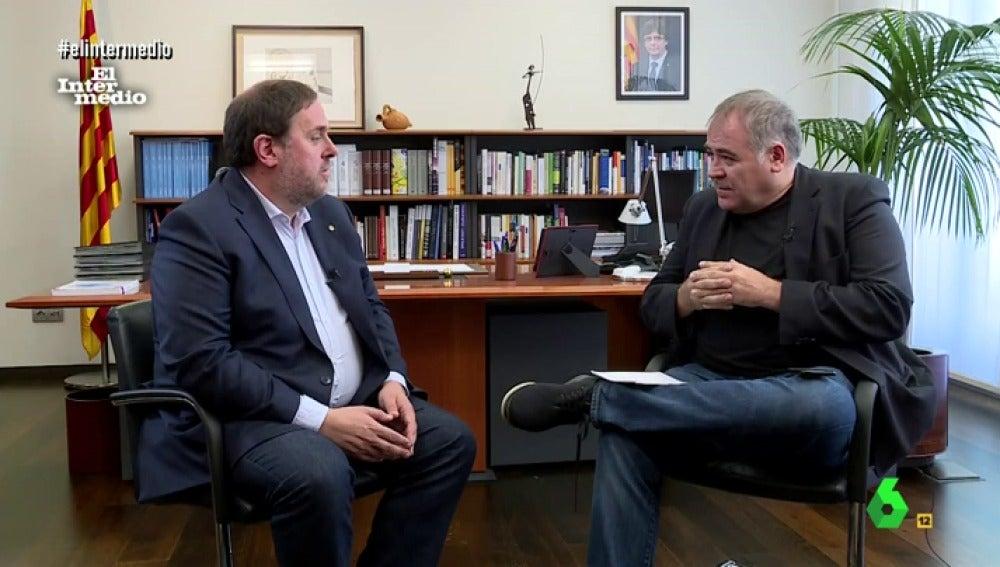 Junqueras y Ferreras en entrevista
