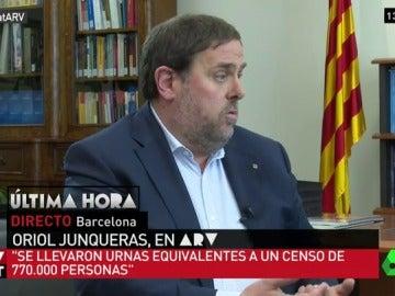 El vicepresidente de la Generalitat, Oriol Junqueras