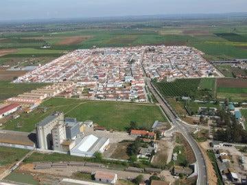 Vista aérea de Guadiana del Caudillo