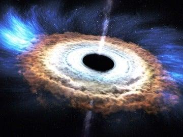Recreación de un agujero negro