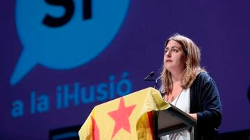 Marta Pascal, en un acto cuando era coordinadora general del PDeCAT