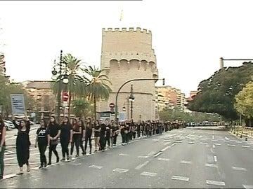 Marcha silenciosa en Valencia para denunciar la trata de personas
