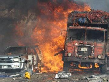 Los terroristas hicieron explotar un camión junto a un hotel situado en el centro de Mogadiscio