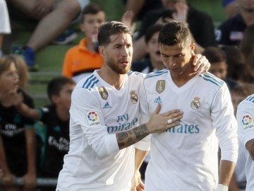 Imagen de archivo de Sergio Ramos y Cristiano Ronaldo
