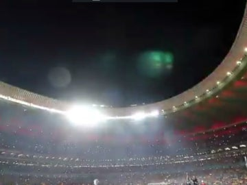 Espectacular juego de luces en el Wanda