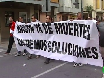 Concentración en La Rioja para pedir soluciones en un tramo de la N-232 con alta siniestralidad