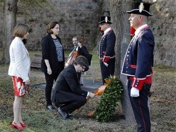 Carles Puigdemont, Ada Colau y Carme Forcadell, homenajean al expresident Luís Companys