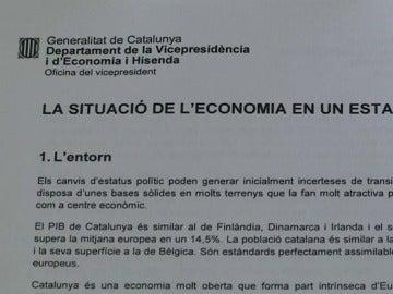 Nuevo informe del Govern de Cataluña