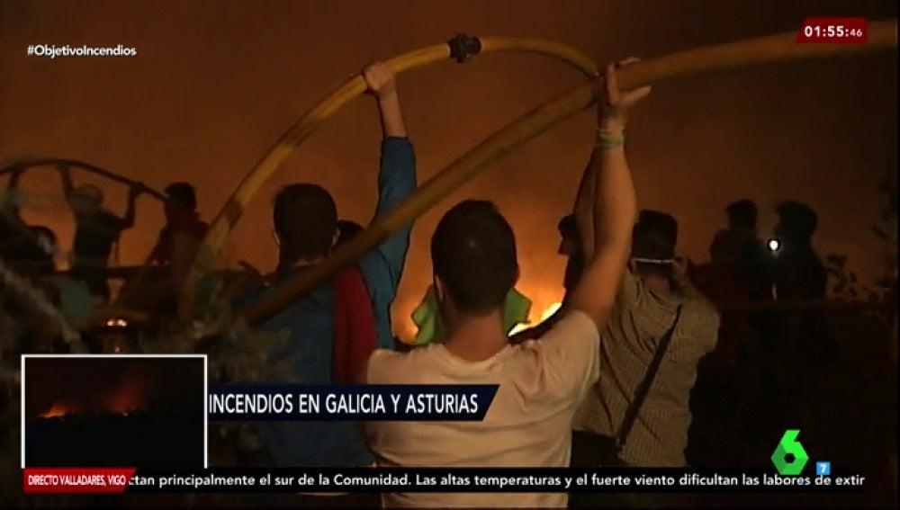 Cadena humana en Vigo