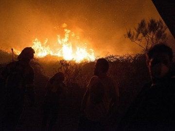 Incendio en Carballeda de Avia, Ourense