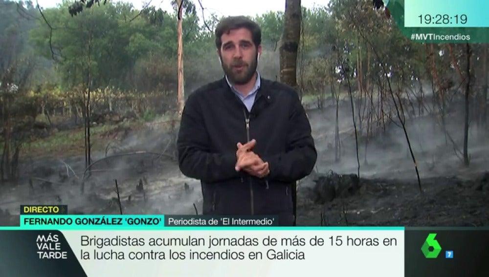 """Gonzo se traslada a Galicia para informar sobre los incendios: """"Los vigueses nos hemos visto frágiles"""""""