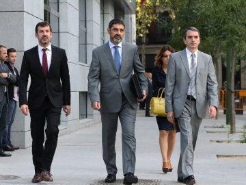 Josep Lluís Trapero a su llegada a la Audiencia Nacional