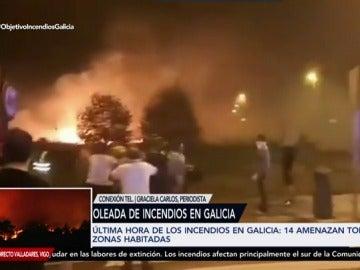 Los vecinos de Baiona ayudan a Protección Civil