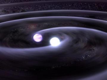 Dos estrellas de neutrones crean ondas gravitacionales