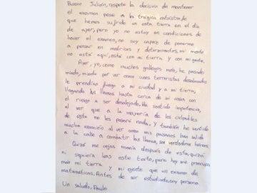 Carta de un alumno a su profesor tras los incendios en Galicia