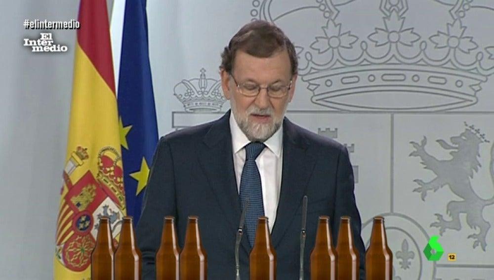 Mariano Rajoy y las cervezas