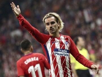Griezmann, en un partido del Atlético de Madrid