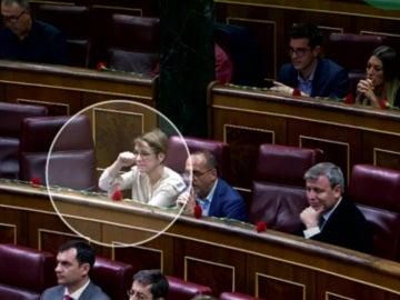 Corte de mangas de la diputada del PdeCAT Lourdes Ciuró
