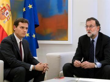 Albert Rivera y Mariano Rajoy
