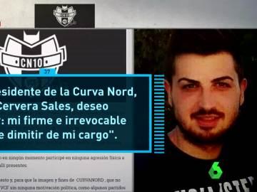 Dimisión de Javier Cervera, expresidente de Curva Nord
