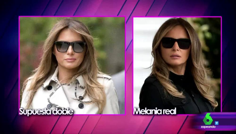 Melania Trump y su presunta doble