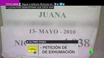 El 'sinvivir' de Juana: la Administración la dio por muerta en 2010 y ahora lucha por demostrar que está viva