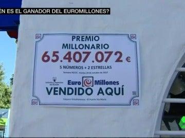 Número ganador de 65 millones de euros