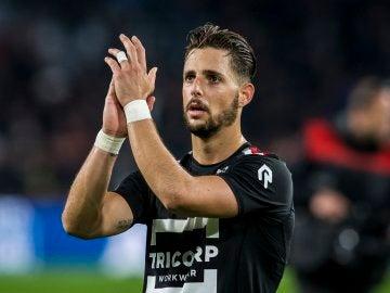 Fran Sol, durante un partido con el Willem II