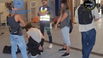 Momento de la detención del prófugo polaco