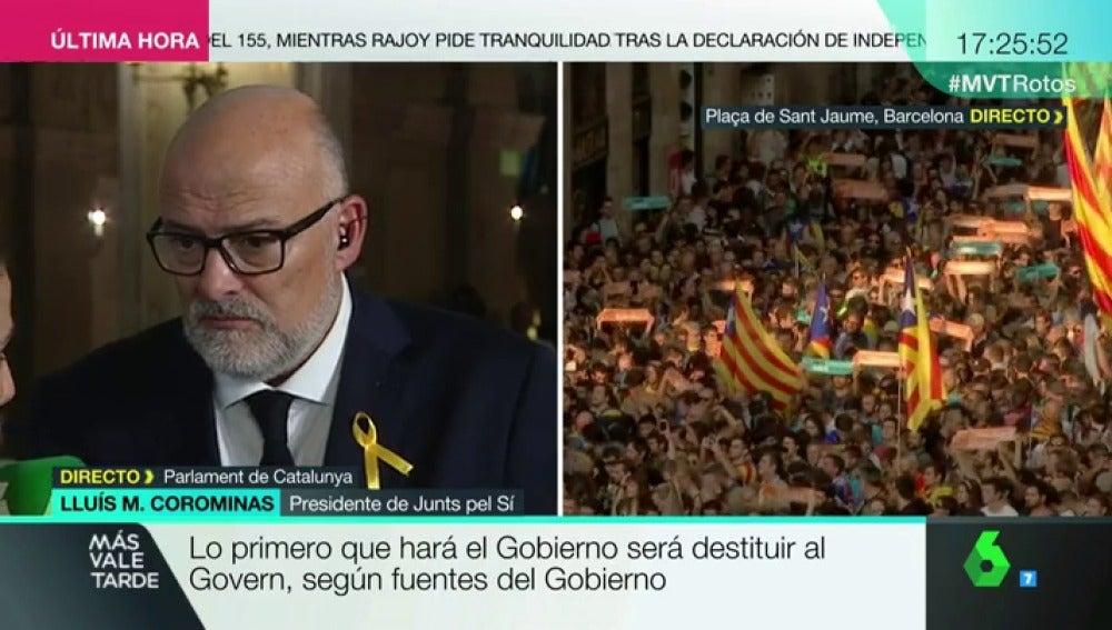El presidente de Junts pel Sí, Lluís Corominas