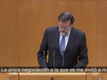 """Rajoy: """"En los últimos tiempos, lo único que Puigdemont quiso negociar fueron los plazos para la independencia"""""""