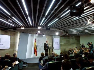 Mariano Rajoy en rueda de prensa tras el Consejo de Ministros