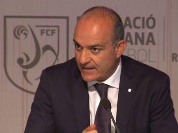 Andreu Subiés, expresidente de la Federación Catalana de Fútbol