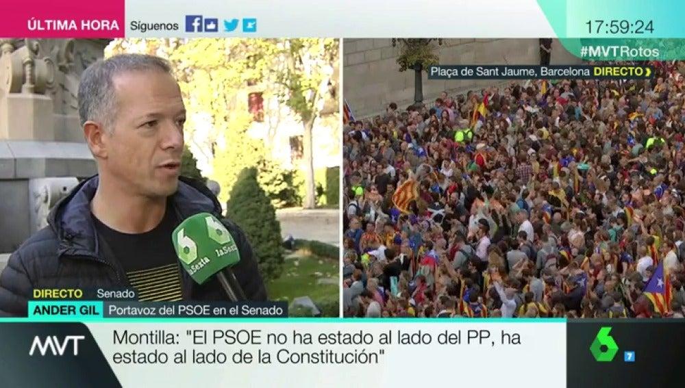 """Ander Gil: """"Hemos convencido al PP de que se deje en el ámbito del parlamento de Cataluña el control de TV3"""""""