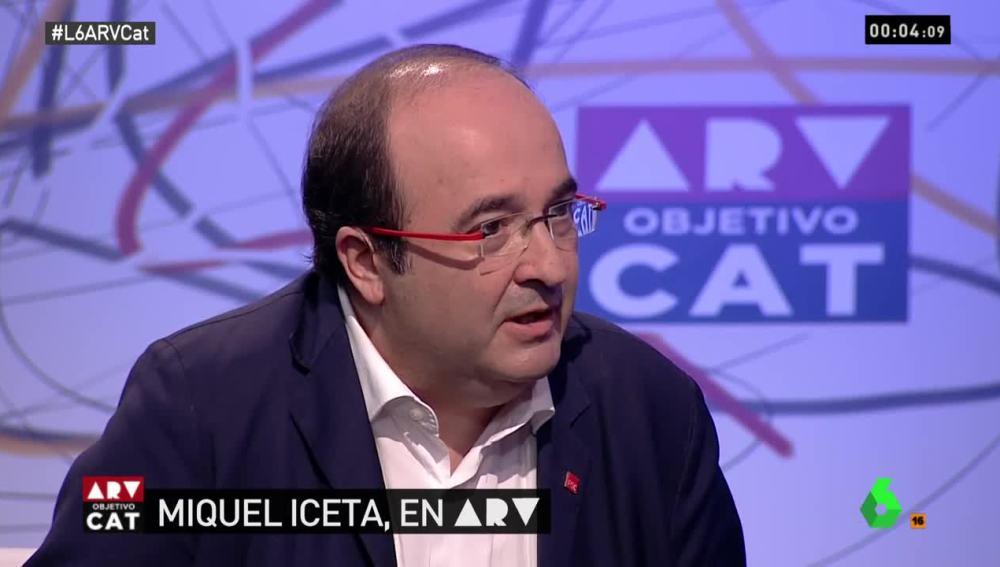 El líder del PSC, Miquel Iceta, en el especial Al Rojo Vivo: Objetivo Cataluña